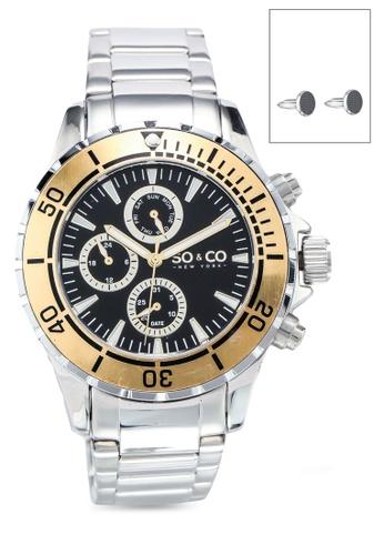 SO&CO silver Hudson 5038.3 Watch Set 59584ACC373AA4GS_1