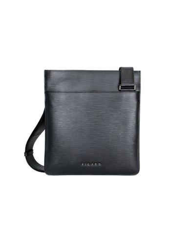 Picard black Alpha Slim Messenger Bag PI517AC0G3FOSG_1