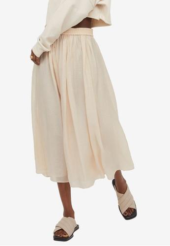 H&M beige Circular Skirt A80A4AAF438D9EGS_1