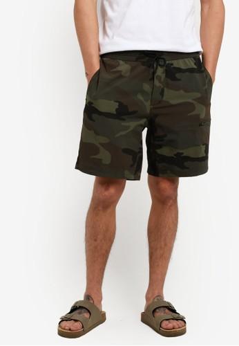 Abercrombie & Fitch green Nylon Shorts AB423AA89IQOMY_1