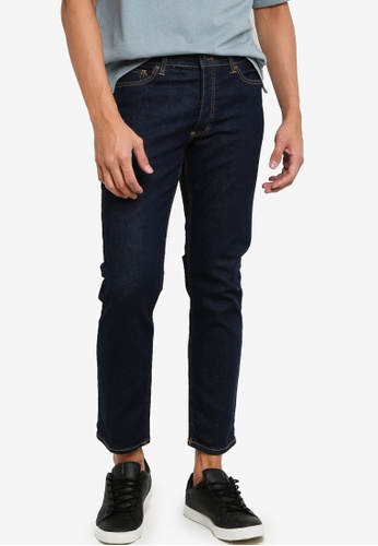 Topman blue Raw Denim Stretch Slim Jeans 6C1C8AA87BC959GS_1