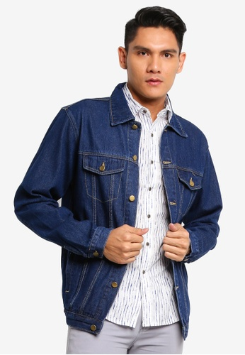 Fidelio blue Classic Slim Denim Jacket 8E853AADCFA2E6GS_1