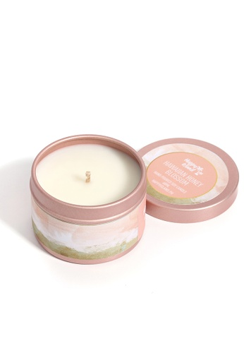 Happy Island pink Hawaiian Honey Blossom Hand Poured Soy Candle 2oz C5A9AHL941B587GS_1