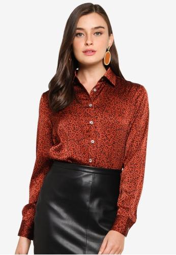 FORCAST brown Elisa Leopard Print Shirt 2085BAA77A0383GS_1