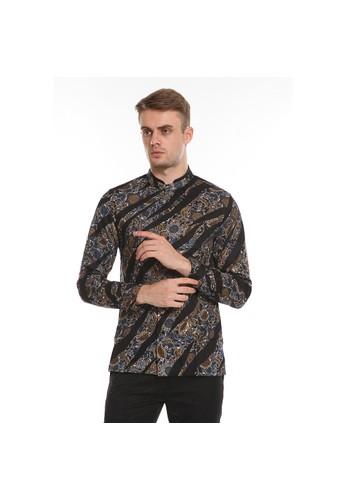 Manzone black MANZONE ANGGARAKSA-BLACK Kemeja Batik Pria Lengan Panjang MODERN FIT C1608AA2BECC95GS_1