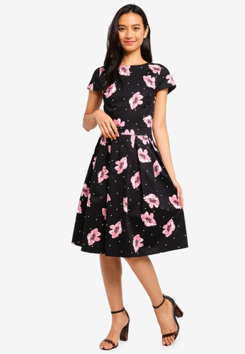 a00accb8763 Buy Dorothy Perkins Spot Floral Skater Dress Online on ZALORA Singapore