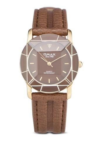 Omax 8N8331G 仿皮圓框裱, esprit門市錶類, 休閒型