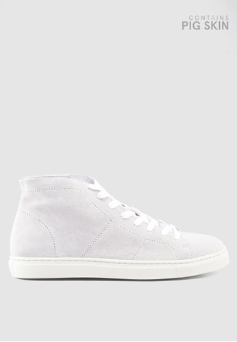 Selected Homme white David High Top Trainers F3D5DSHBCAF0B5GS_1
