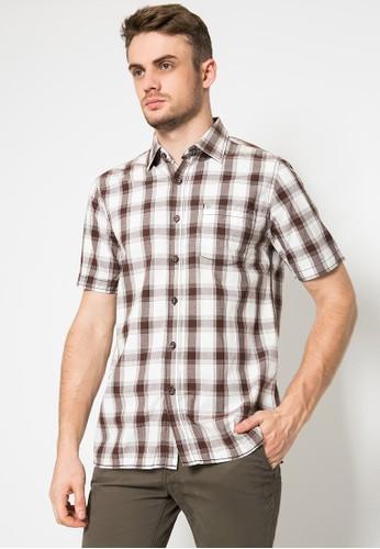 LGS white and brown Regular Fit - Kemeja Casual - Warna Putih/Coklat - Motif Kotak-Kotak 43460AAA1694F2GS_1