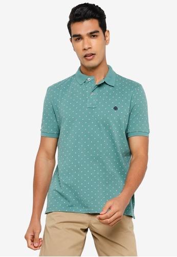 Springfield green All Over Print Polo Shirt 0FBDAAA35E1D9DGS_1