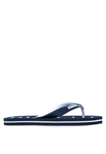 BENCH blue Basic Rubber Slippers BE550SH94LUBPH_1