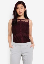 Dorothy Perkins purple Lace Shell Top DO816AA0RPHBMY_1