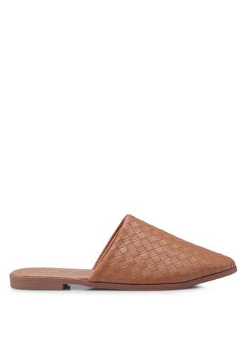 Rubi brown Charlotte Soft Mule Slip Ons D2027SH3818E57GS_1