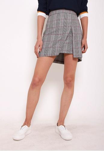 Leline Style black Mae Checks Skirt LE802AA0GOO6SG_1