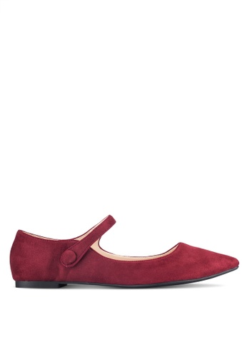 ZALORA red Mid Strap Ballerinas ADC5BSHFFF2F5EGS_1