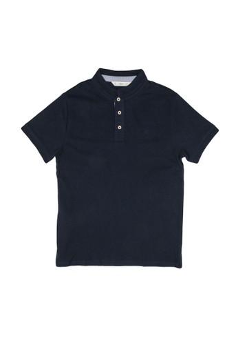 MANGO KIDS blue Mao Collar Cotton Polo Shirt 4F90EKA59FD1ABGS_1