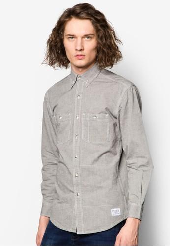 Tonal 丹寧風長袖襯衫,zalora退貨 服飾, 服飾