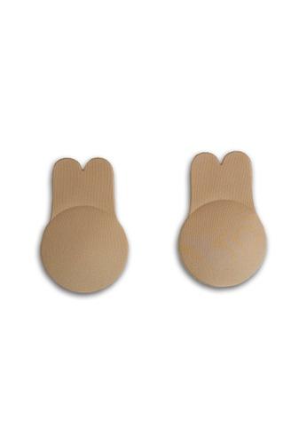 PINK N' PROPER beige Ultimate Rabbit Ears Reusable Adhesive Boob Lift Up Bra in Beige C0205US0682A26GS_1