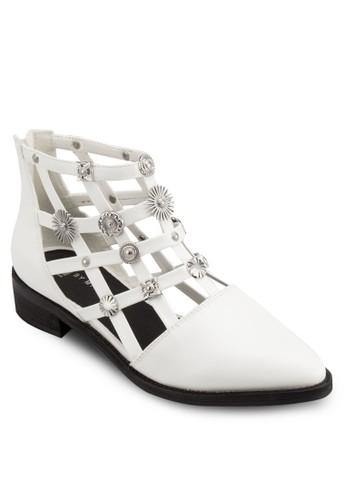Rain 造型鉚釘鏤空踝靴, 韓系時尚, zalora 台灣梳妝