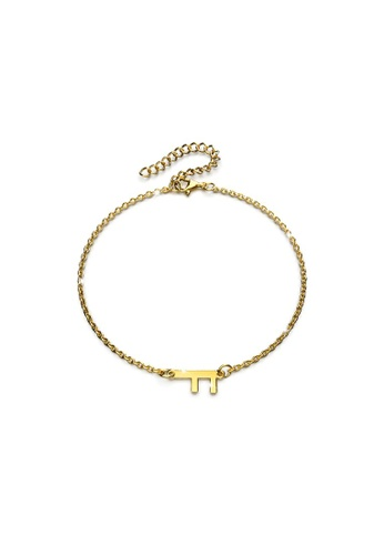 Bullion Gold gold BULLION GOLD Bold Alphabet Letter Initial Charm Bracelet in Gold Tone - F 03E43ACBBD74A8GS_1