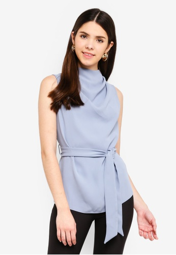 River Island blue Sleeveless Willow Top 674C6AA5423A8EGS_1