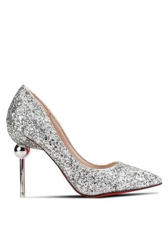 Sunnydaysweety silver Shiny Pointed High Heels SU527SH87IRSMY_1