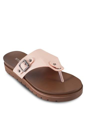 扣環夾腳厚底涼鞋, esprit 折扣韓系時尚, 梳妝