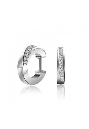 925 Signature silver 925 STERLING SILVER Solid 925 Sterling Silver Huggies 26D7FAC9AFFE62GS_1