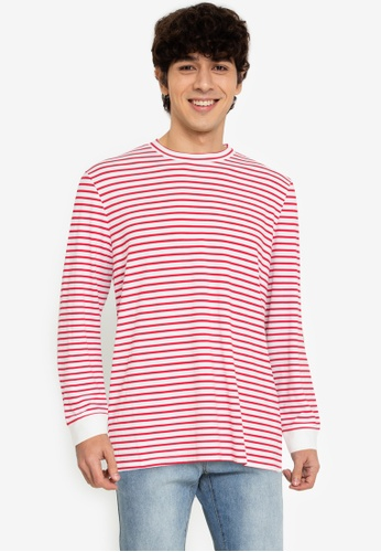 ZALORA BASICS multi Striped Long-Sleeve T-Shirt 9EF03AAB544FEBGS_1