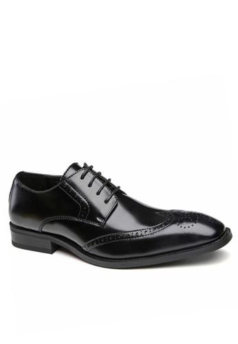 Twenty Eight Shoes black Vintage Leather Oxford 3210-6 70619SH2B5E73DGS_1