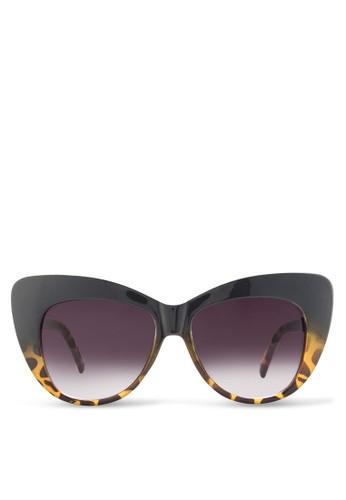 JP0065 貓眼印花太陽esprit台灣官網眼鏡, 飾品配件, 飾品配件