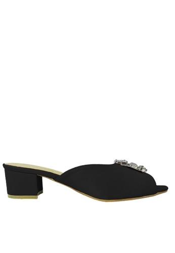 Jacque black Stella Black Low Heel JA262SH89WNEMY_1
