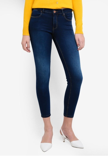 Dorothy Perkins navy S:Rich Blue Mid Rise Bailey Jeans 2151EAABA24729GS_1