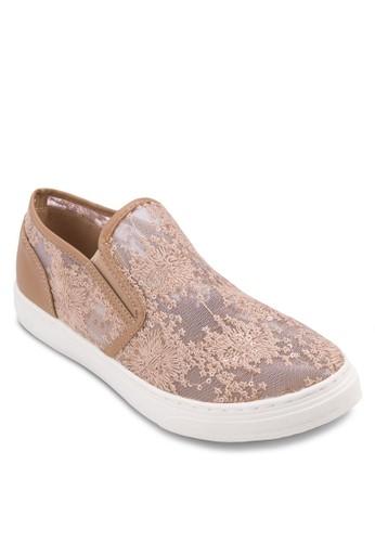 網眼zalora是哪裡的牌子蕾絲懶人休閒鞋, 女鞋, 鞋