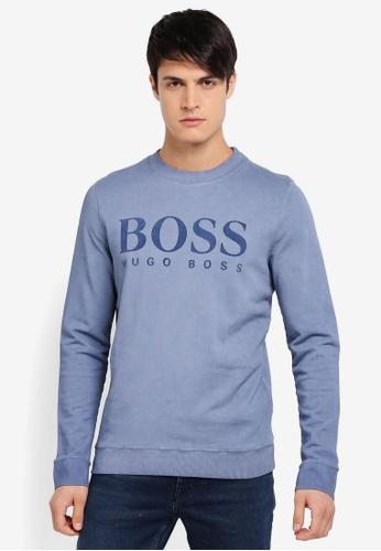 BOSS blue Wlan Sweatshirt - Boss Casual BO517AA0SRBMMY_1