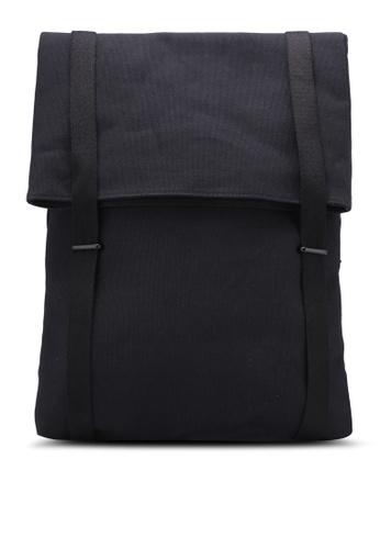 ZALORA black Minimal Canvas Backpack with Double Strap 653E2AC6E0C5C4GS_1