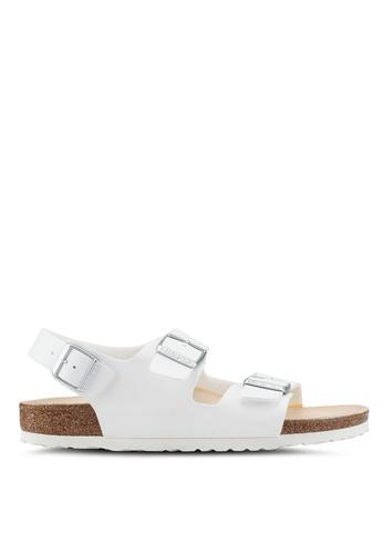 Birkenstock white Milano BF Sandals D914BSHC888B74GS_1