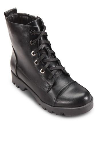 繫帶短筒靴, esprit香港分店女鞋, 鞋