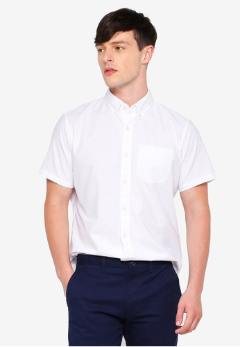 GAP white Basic Oxford Shirt 7249EAA26CA1E9GS_1
