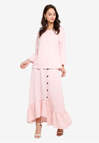 Check Casual Suit from BYN in Pink