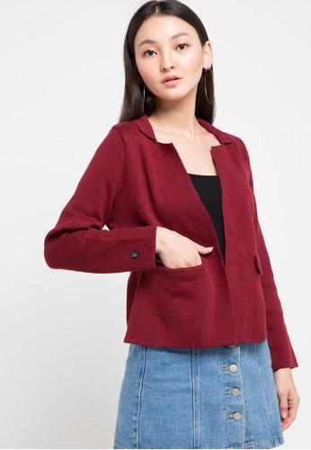 Noir Sur Blanc red Ladies Jacket Long Sleeve AB84FAAF277DE2GS_1