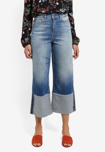 ONLY blue Eya Cropped Culotte Denim Jeans E1242AA44DC0EBGS_1