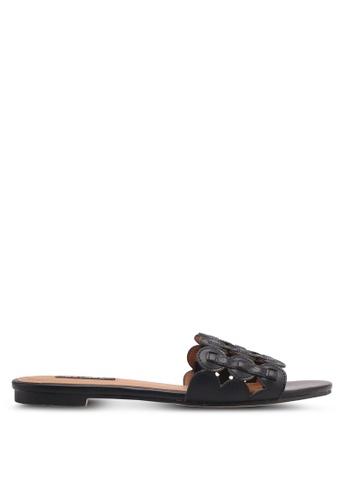 ZALORA black Multi-Ring Design Slip-On Sandals DDD48SH0E6F49FGS_1