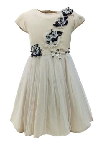 Versail beige Versail Enfant Dress Brukat Tile Mutiara SS7258C 95E90KA220F1DBGS_1