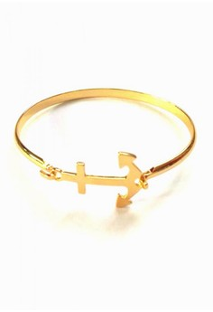 Stainless Gold Anchor Bangle