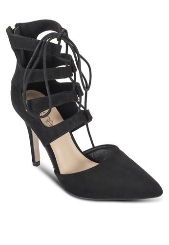 Cressida 鏤空esprit 價位麂皮高跟踝靴, 女鞋, 知性女強人