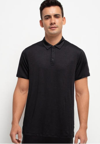 GAP black V-Performance Polo Shirt 16EA6AAE928F59GS_1