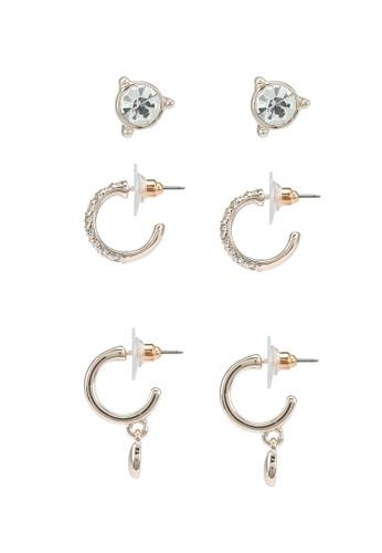 Forever New gold Stella Hoop & Stud Earrings Multipack 0E491AC5E66103GS_1