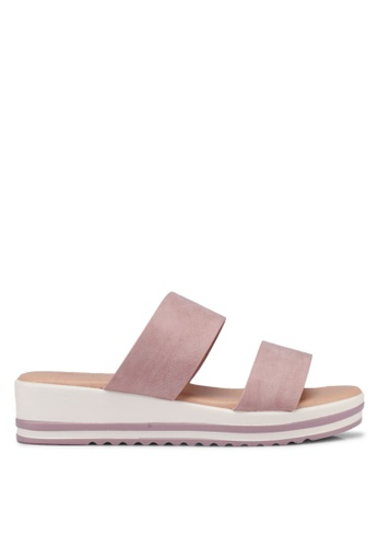 Bata pink Slide On Wedges 7F85CSH168E4B7GS_1