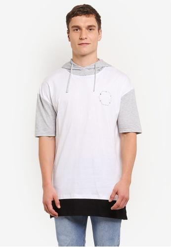 Factorie 白色 Morrison Drop 連帽 短袖 T卹 FA880AA0SAB3MY_1